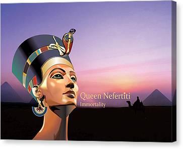 Nefertiti Canvas Print by Debbie McIntyre