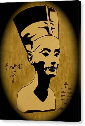 Nefertiti Egyptian Queen Canvas Print by Georgeta  Blanaru