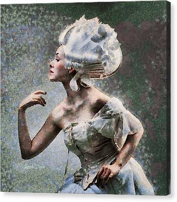Nefertiti Style Hair - Da Canvas Print by Leonardo Digenio