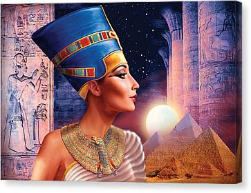 Nefertiti Variant 5 Canvas Print by Andrew Farley