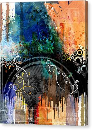 Negative Thoughts Invasion Canvas Print by Bedros Awak