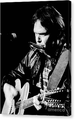 Neil Young 1986 #2 Canvas Print by Chris Walter