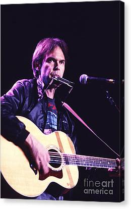 Neil Young 1986 #3 Canvas Print by Chris Walter
