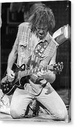 Neil Young Canvas Print by David Plastik