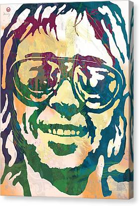 Neil Young Pop Stylised Art Poster Canvas Print by Kim Wang