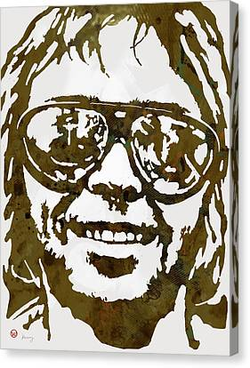 Neil Young Pop  Stylised Art Sketch Poster Canvas Print by Kim Wang
