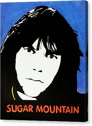 Neil Young Sugar Mountain Canvas Print by Kenneth Regan