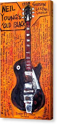 Neil Young's Old Black Canvas Print by Karl Haglund