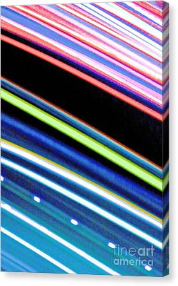 Neon 107 Abstract Canvas Print by Ken Lerner