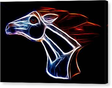 Neon Bronco II Canvas Print by Shane Bechler