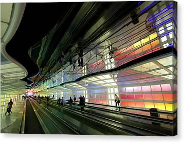 Neon Hall 2 Canvas Print by Sven Brogren