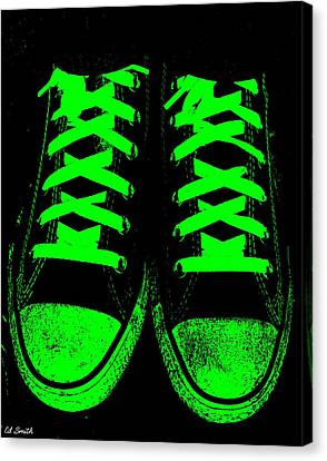 Neon Nights Canvas Print by Ed Smith