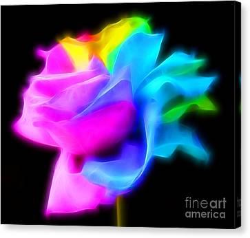 Neon Romance Canvas Print by Krissy Katsimbras