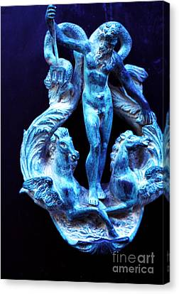 Neptune Door-knocker Canvas Print by Thomas R Fletcher