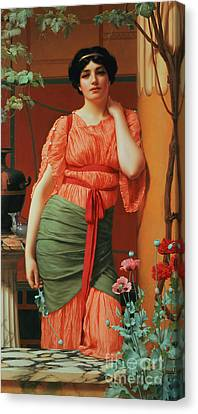 Nerissa Canvas Print by John William Godward