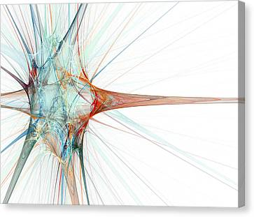 Nerve Cell, Abstract Artwork Canvas Print by Laguna Design