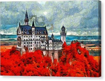 Neuschwanstein Castle - Da Canvas Print by Leonardo Digenio
