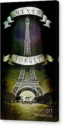 Never Forget Canvas Print by Michael  Volpicelli