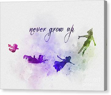 Never Grow Up Canvas Print by Rebecca Jenkins