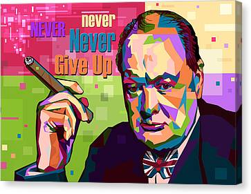 Never Never Never Give Up Canvas Print by Mal Bray