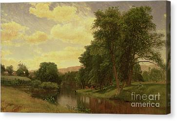 New England Landscape Canvas Print by Aaron Draper Shattuck