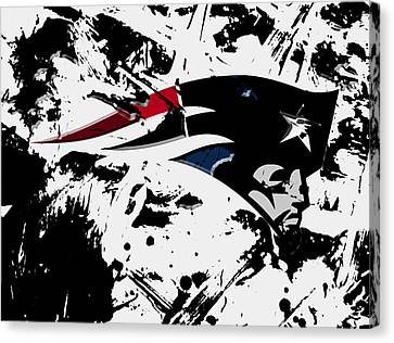 New England Patriots 1d Canvas Print by Brian Reaves