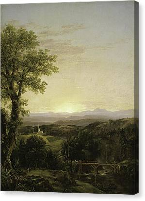 New England Scenery Canvas Print by Thomas Cole