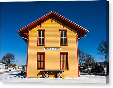 New Glarus Depot Canvas Print by Todd Klassy