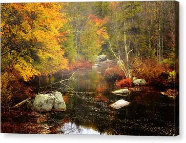 New Hampshire Wilderness-autumn Scenic Canvas Print by Thomas Schoeller