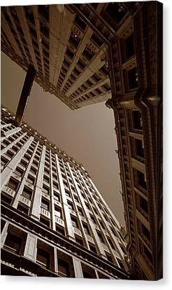 New Heights - Wrigley Building - Chicago Canvas Print by Dmitriy Margolin