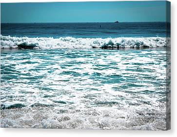 New Horizon - Blue Ocean Canvas Print by Colleen Kammerer