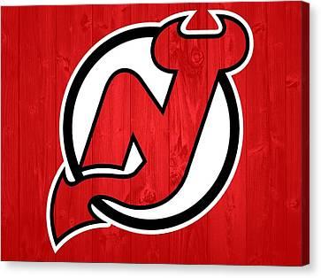 New Jersey Devils Barn Door Canvas Print by Dan Sproul
