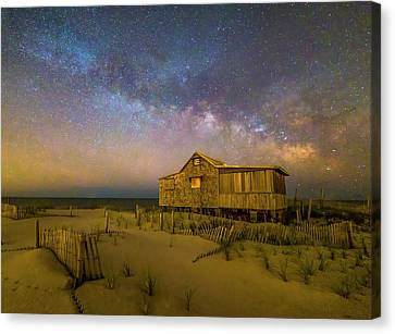 New Jersey Shore Starry Skies And Milky Way Canvas Print by Susan Candelario
