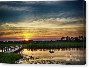 New Jersey Sunset Canvas Print by Tom Gari Gallery-Three-Photography