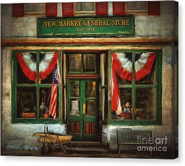 New Market General Store Canvas Print by Lois Bryan