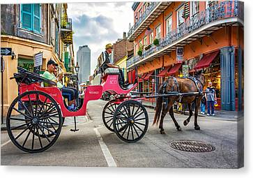 New Orleans - Carriage Ride 2 Canvas Print by Steve Harrington