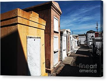 New Orleans Cemetery Canvas Print by John Rizzuto