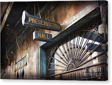 New Orleans Jazz Canvas Print by Jeanne  Woods