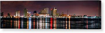 New Orleans Skyline At Night Canvas Print by Jon Holiday