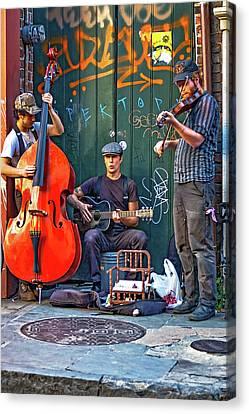 New Orleans Street Musicians Canvas Print by Steve Harrington