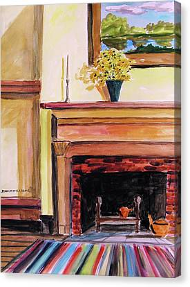 New Painting Over The Mantel Canvas Print by John  Williams