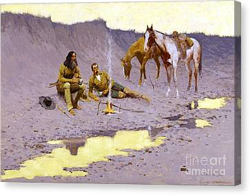 New Year On The Cimarron Canvas Print by Roberto Prusso