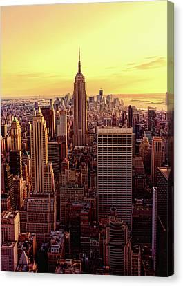 New York - Magic Hour At Top Of Rock Canvas Print by Matt Pasant