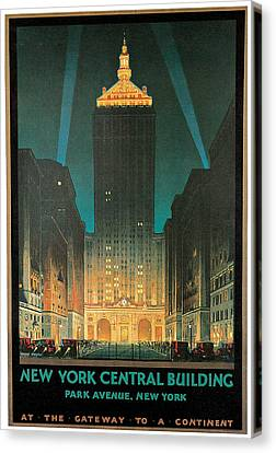 New York Central Building Canvas Print by Chesley Bonestell