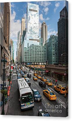 New York City 42nd Street Traffic V Canvas Print by Clarence Holmes
