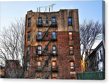 New York City Apartments Canvas Print by Randy Aveille