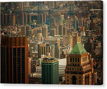 New York City Buildings And Skyline Canvas Print by Vivienne Gucwa