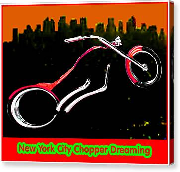 New York City Chopper Dreaming Red Jgibney The Museum Zazzle Gifts Fa Canvas Print by The MUSEUM Artist Series jGibney