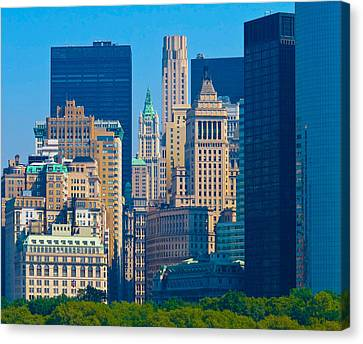 New York City Canvas Print by Douglas J Fisher