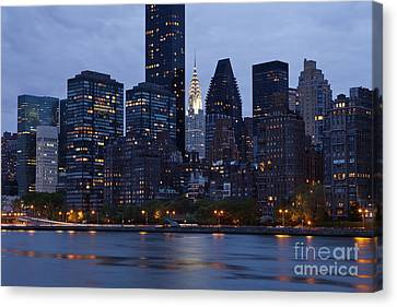 New York City From Across The Water Canvas Print by Bryan Mullennix
